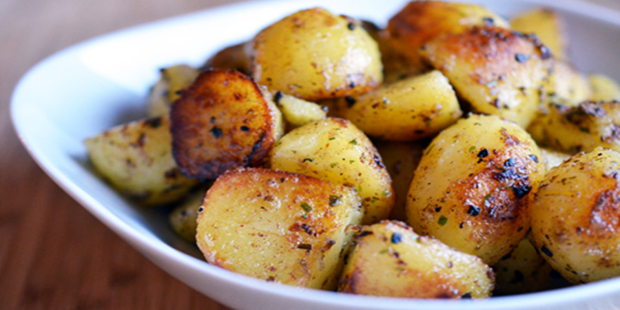 Advieh Pot Roasted Potatoes
