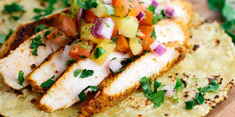 Chicken Tacos with a Fresh Tomato Salsa